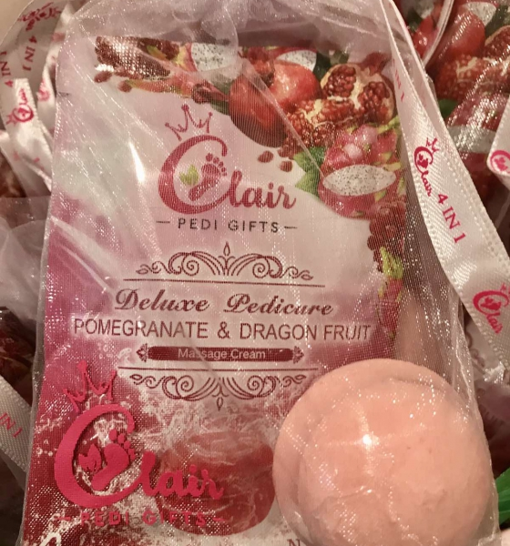 Deluxe Pedicure Pomegranate & Dragon Fruit